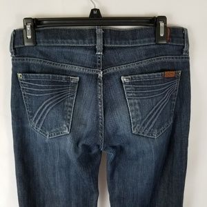 7 For All Mankind DOJO Jean Size 26 Wide Leg Flair